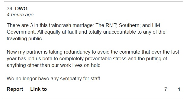 4 Nov Southern strike story comment 1