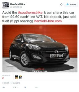 14 Oct tweet car hire