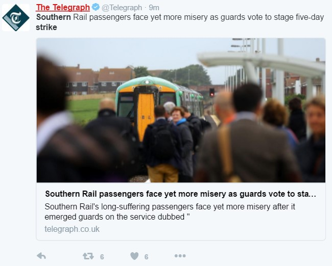 Telegraph tweet 28 July