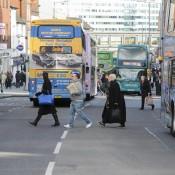 bus, Nottingham, passengers, waiting