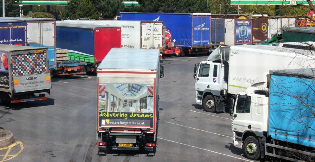 lorries parking