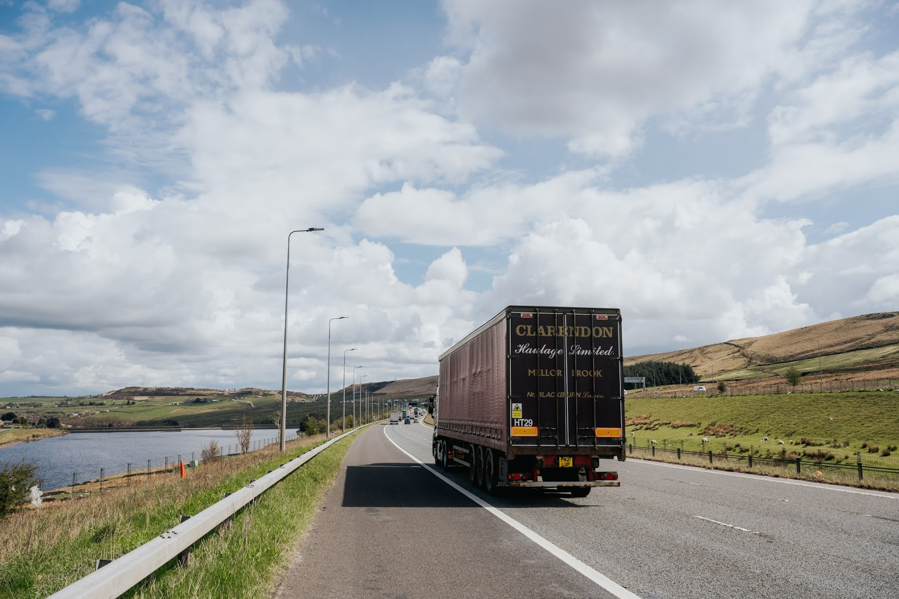 a lorry on the road